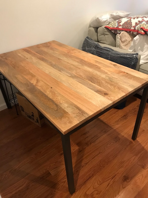Used West Elm Box Frame Dining Table For Sale In New York Letgo