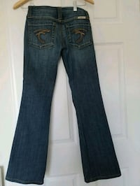 blue denim straight-cut jeans Mississauga, L5M 0P5