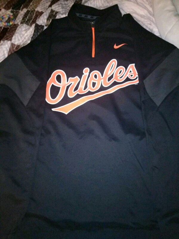 black and orange orioles Nike gear