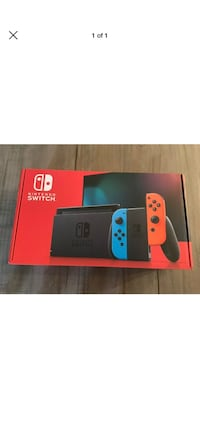 Nintendo Switch Neon Red and Neon Blue New