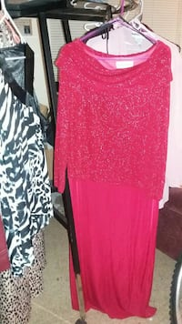 Red shimmer dress stretchy material