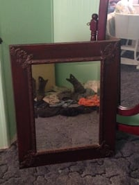 rectangular mirror with brown wooden frame Gibson, 28343