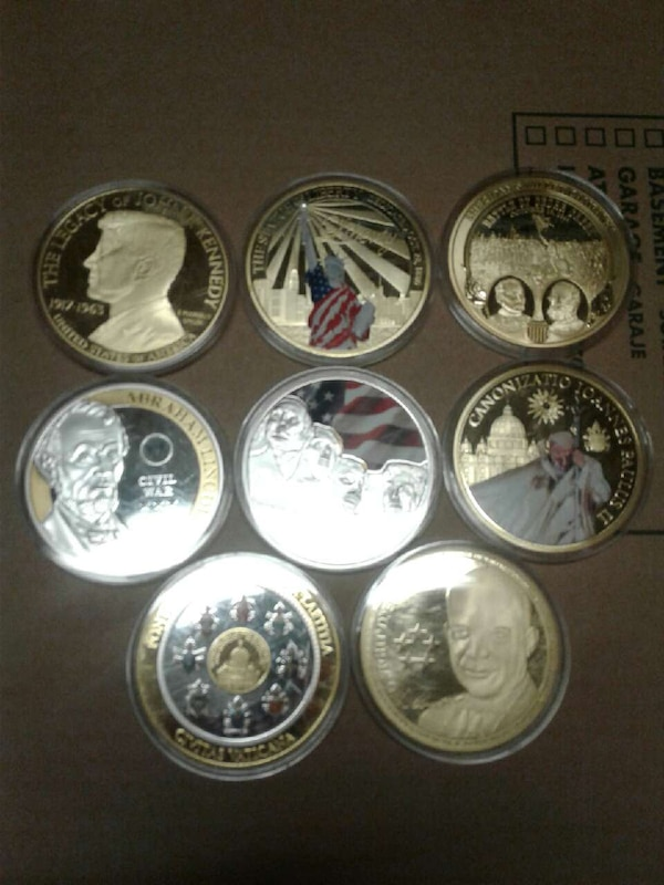 Used big never touch coins from presidents to the pope for
