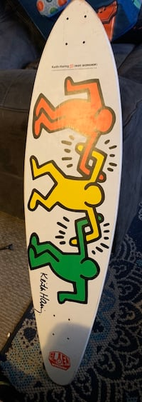 Keith Haring X Alien Workshop pintail longboard deck. Or best offer Manchester, 03103