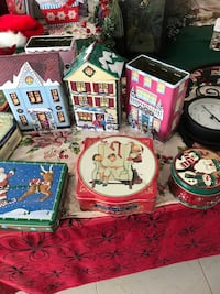 Assortment of Xmas cans, new and old Redlands, 92374