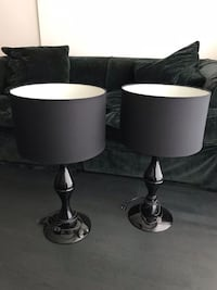two black-and-white table lamps Vancouver, V6E 0C2