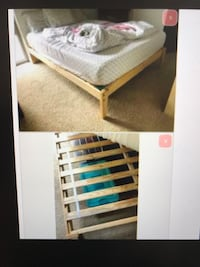 Queen Real Wood Platform Frame Bed, will Deliver ! Annandale