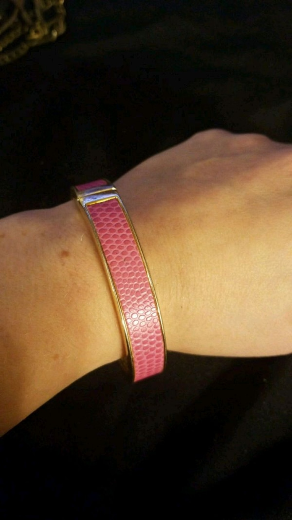 Pink leather and gold bangle  7e51639d-81ae-4dcd-bc76-8488d012c4a5