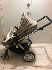 icoo stroller with footmuff and car seat adapter,reversible, clean, almost new and it's can as a bassinet Toronto, M1R 1S9