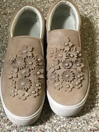 Blush pinkish color suede- Mark Fisher sneakers. Lightly worn... they run small are a size 8. Feel like a 7 1/2. paid 40.00... selling for 12.00... very comfortable.  Chula Vista, 91914