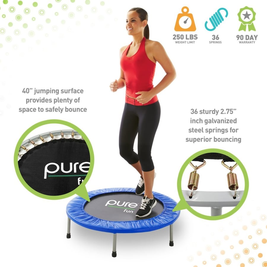 Pure Fitness mini trampoline 40 inches 609c6af3-4cef-41c8-bfee-1b77892b51f9