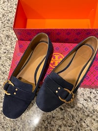 Tory Burch Loafers Flats Navy Blue US Size 9