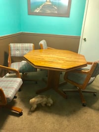 brown wooden desk with chair Sandy Springs, 30350