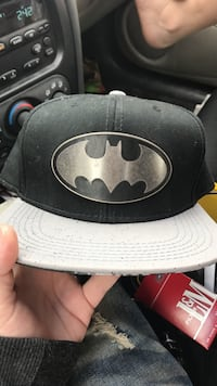 Gray and black Batman fitted cap