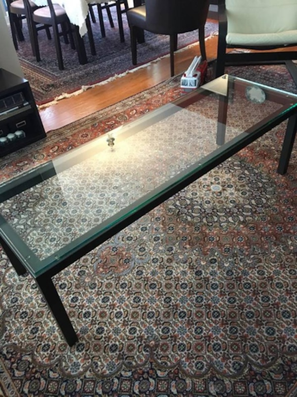 West Elm Coffee Table - Glass Top