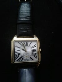 square silver analog watch with black leather strap Rohnert Park, 94928