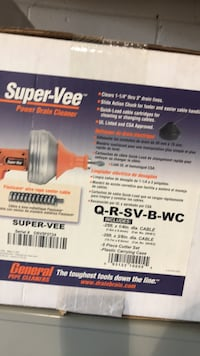 General Wire super Vee power drain cleaner brand new for sale  Mississauga, L5B 2B3