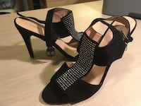 Black suede by Vianni. Brand new, never worn. Size 8.5