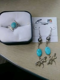Turquoise and sterling silver ring & earrings Edmonton, T5B 3P5