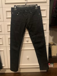YSL black denim size 24/25