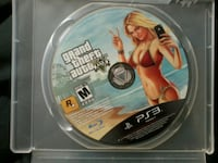 Sony PS3 Grand Theft Auto Five game disc