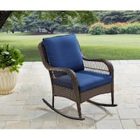 Better Homes and Gardens Colebrook Rocking Chair, Blue, SKU # 51042 Tustin