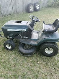 black and gray Craftsman ride on mower Fort Worth, 76114