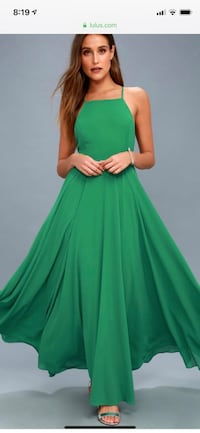 women's green sleeveless dress Bowie, 20715