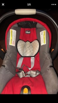 baby's red and black car seat carrier Renton, 98056