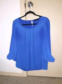 women's blue scoop-neck blouse Vancouver, 98662