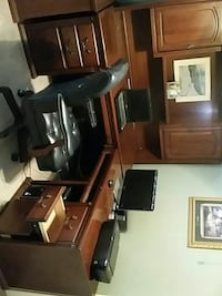 Desktop and bookcase excellent condition great for