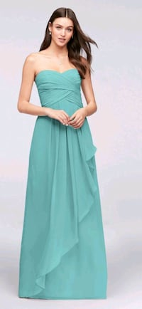 Strapless Crinkle Chiffon Dress with Cascade Skirt Guelph, N1E 4R8