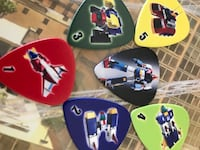 Voltes V Fans Guitar Picks with  adhesive case Bellflower, 90706