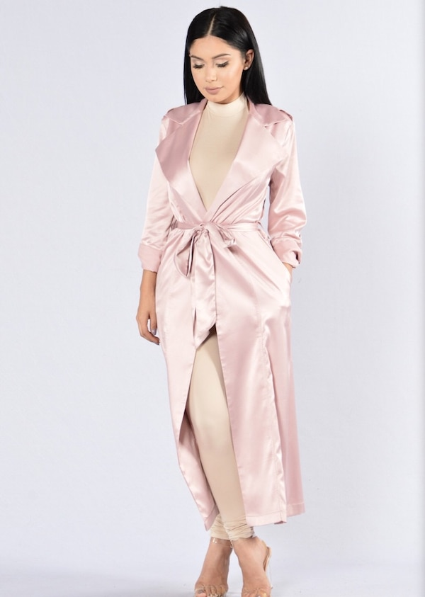 Baby Pink Duster Jacket 6c1a4878-8722-4f61-9ecf-d6f7bb32c31b