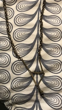 Long UO brass triangle necklace