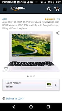 Chromebook by acer