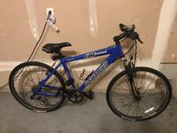 blue and black Schwinn hardtail mountain bike Laurel, 20723