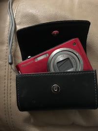 Red Digital Camera with Case St. Louis, 63116