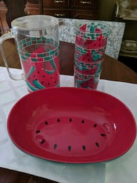 Bowl/pitcher and cups set