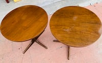 Two vintage solid wood side tables Deilcraft, price is firm. Toronto, M1M 3H2