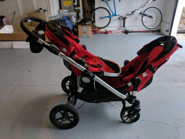 Stroller City Select Double Stroller Red