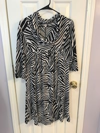 Black and white zebra print long-sleeved dress Conway, 29526