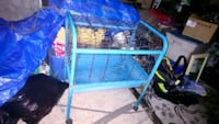 Heavy duty critter cage with stand and wheels. Vancouver, V6L