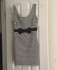 FOREVER 21 S SMALL BLACK AND WHITE STRIPED DRESS Indian Head, 20640