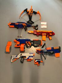 7 toy guns 6 Nerf and 1 air zone make a reasonable offer Fairfield, 06824