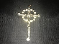 Silver Cross with Zircon and detail Selah, 98942