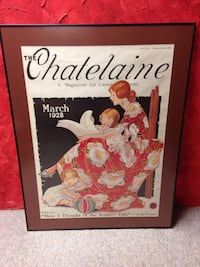 Framed chatelaine picture