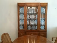 China cabinet  (Breakfront )Pecan Cary, 27513