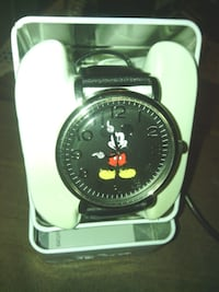 MICKEY MOUSE WATCH-BLACK LEATHER STRAP Tucson