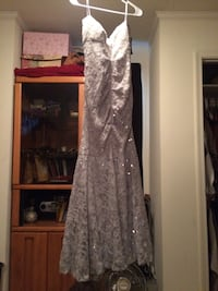 Gray/Silver dress size 9/10 strapless Virginia Beach, 23456